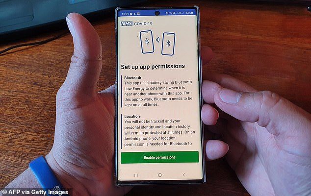 The NHS app is considered a vital part of the Government's 'test, track, trace' programme for stopping a second wave of coronavirus infections in Britain